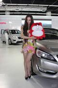 2013淄博五一车展美女车模图