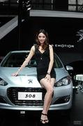 2011广州车展标致3号车模