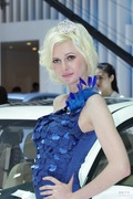 中华4号车模 2013上海车展实拍