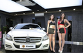 韩国两大顶级车模比拼 颜值身材俱佳