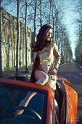 气质名媛橙色迷情 精致美貌诱惑难挡