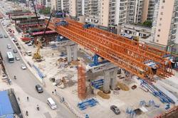 南昌洪都高架主线桥将2019年3月31日通车