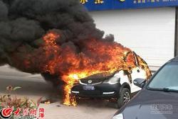 电轿买了不足一周着火 警方联动及时控制