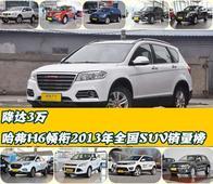 降达3万 哈弗H6领衔2013年全国SUV销量榜