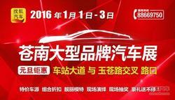 搜狐汽车2016 苍南大型品牌汽车展已启动