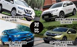 20万元左右合资SUV怎么选?四款热门日系车横比
