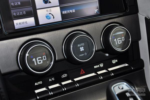 捷豹f-type的空调控制面板