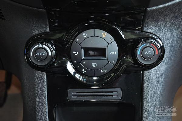 福特嘉年华两厢的空调控制面板