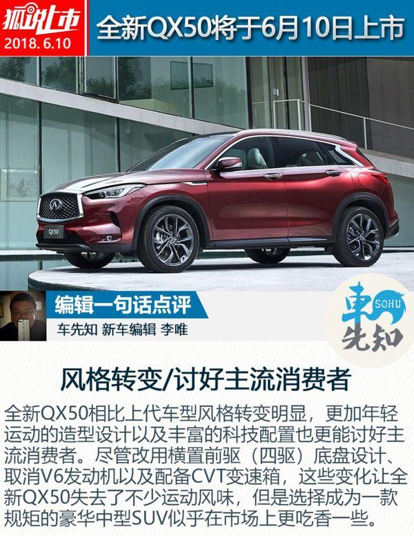 英菲尼迪全新QX50将于6月10日面市 预报价35万元起