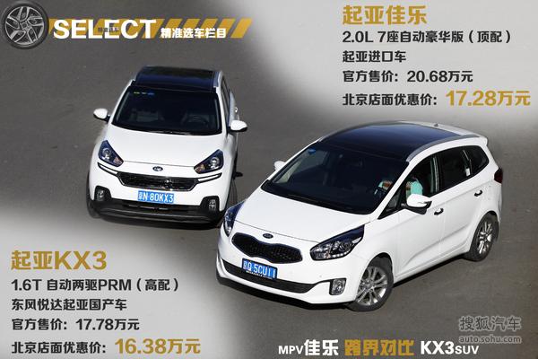 10来万你选MPV还是SUV 起亚佳乐对比KX3高清图片