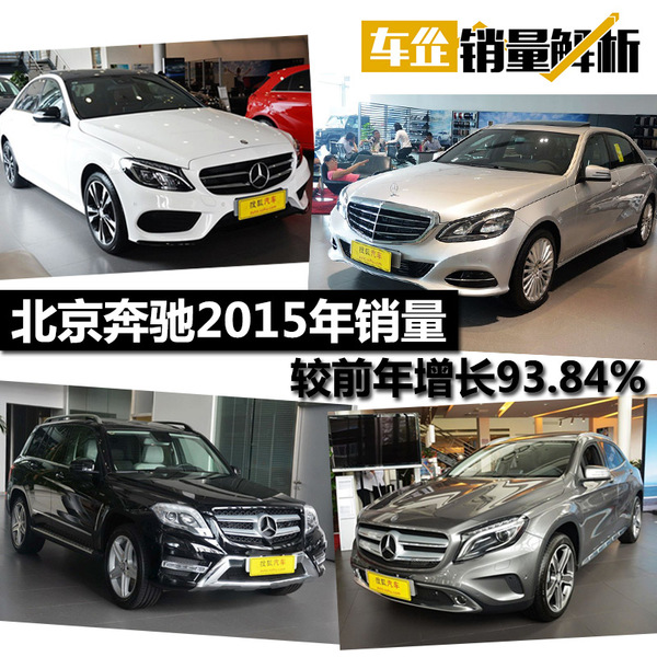 北京奔驰2015年销量
