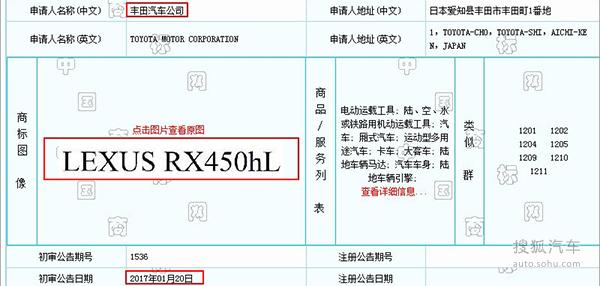 雷克萨斯RX或推出加长版