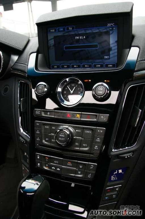 凯迪拉克cts v2009款6.2l高性能豪华轿车内饰t225250图片 高清图片