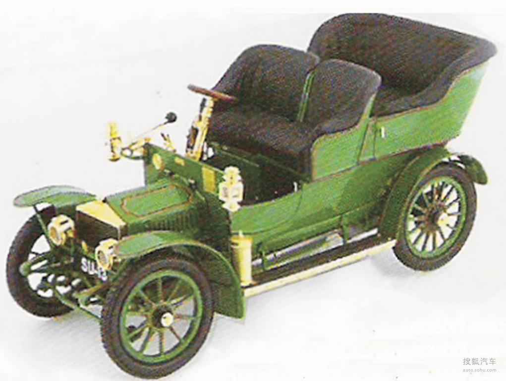 一辆1905年劳斯莱斯汽车10HP模型 -汽车图片高清图片