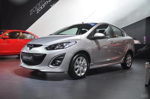 马自达全新Mazda2三厢广州车展实拍