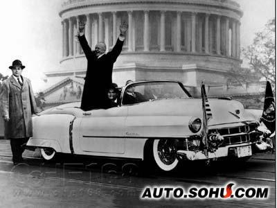 统艾森豪威尔在凯迪拉克Eldorado中作就职演讲)-上海东昌凯帝汽车高清图片
