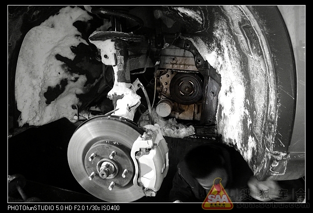 冰雪引发奇骏发电机皮带破裂