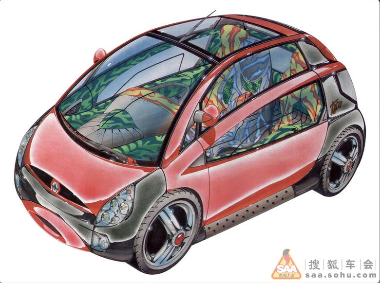 手绘版概念汽车设计图片