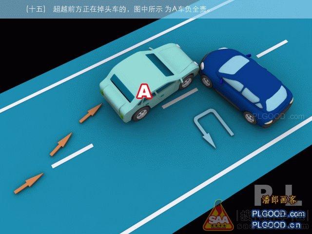 最新交通事故责任划分示意图 陆风x8