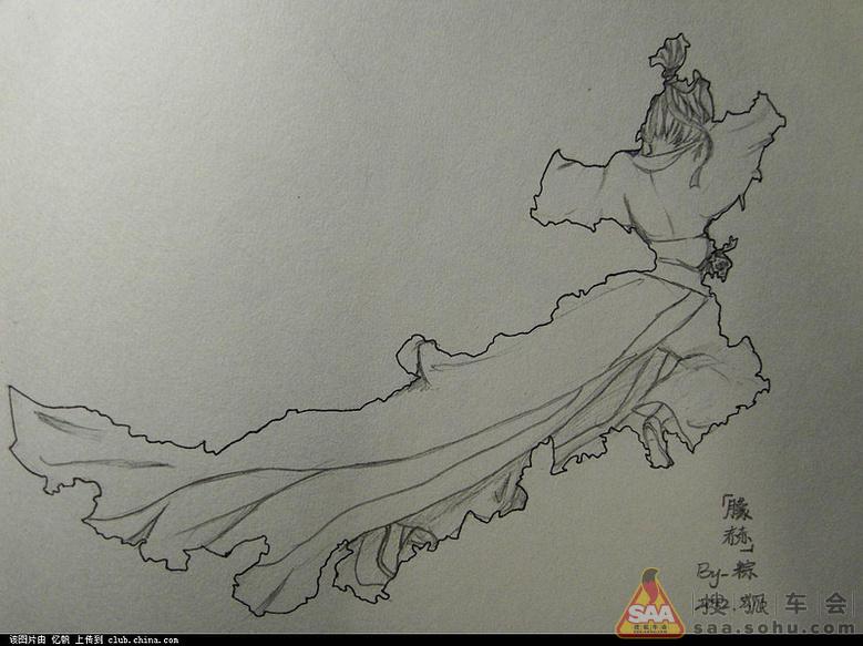帆船 简笔画 手绘 素描