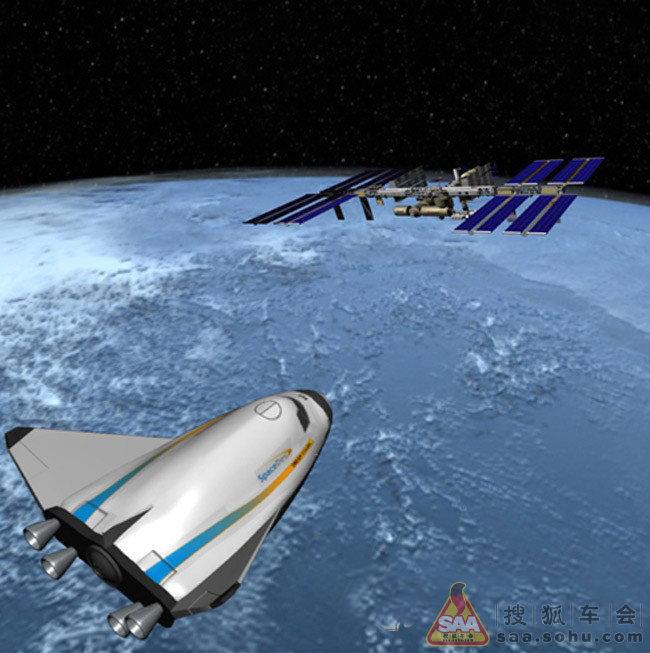 美国接替航天飞机的新型飞船亮相