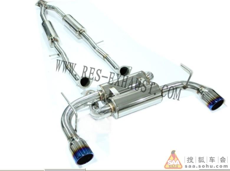 英菲尼迪FX35改装RES不锈钢原装位排气管-奥迪a5四驱怎么开图片