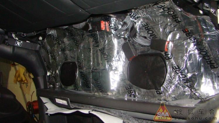 jeep指南者高品质音响改装 全车隔音高清图片